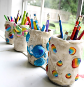 seashell pencil holders