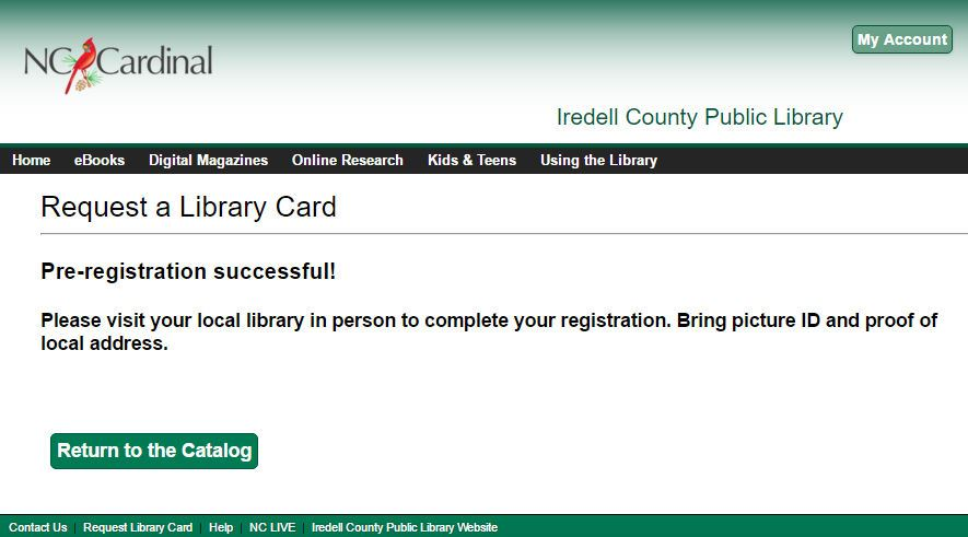 Request Library Card