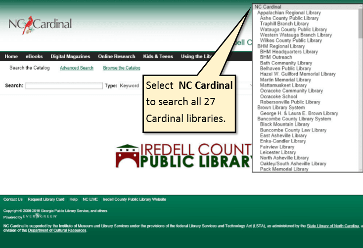 NC Cardinal | Iredell County Public Library, NC