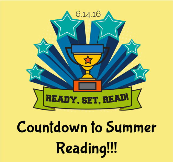 Countdown to Summer Reading contest logo